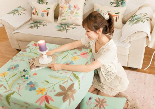 创意家居|用刺绣元素,打造清新唯美家!